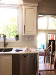 armoire cuisine blanche